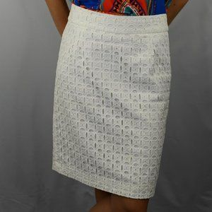 Banana Republic White Eyelet Skirt SZ: 2P